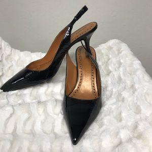 "Bronx Shoes - Bronx patent leather black sling heel 3"" size 39"